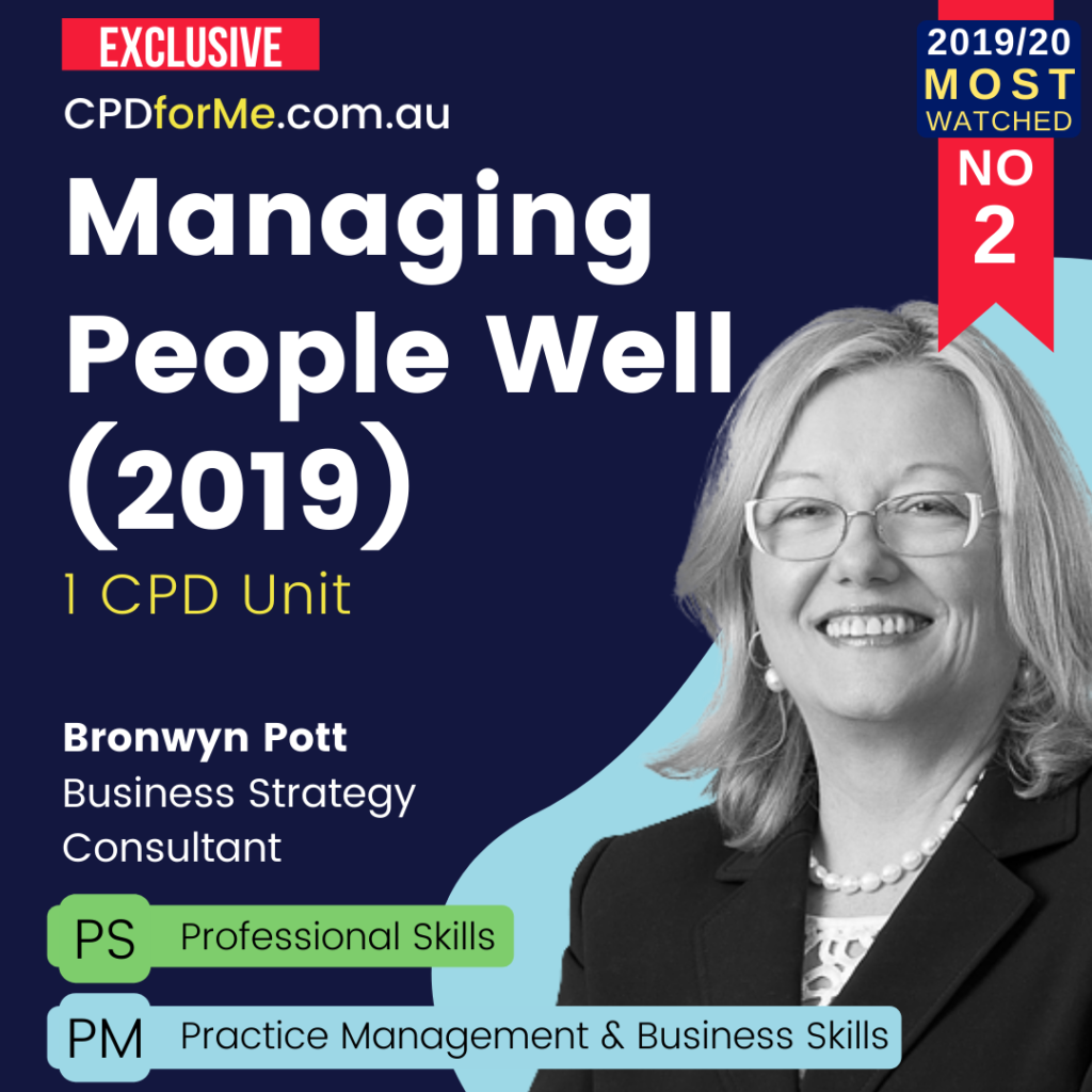 Managing People Well (2019) Online CPD