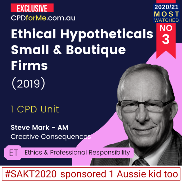 Ethical Hypotheticals Small & Boutique Firms (2019)