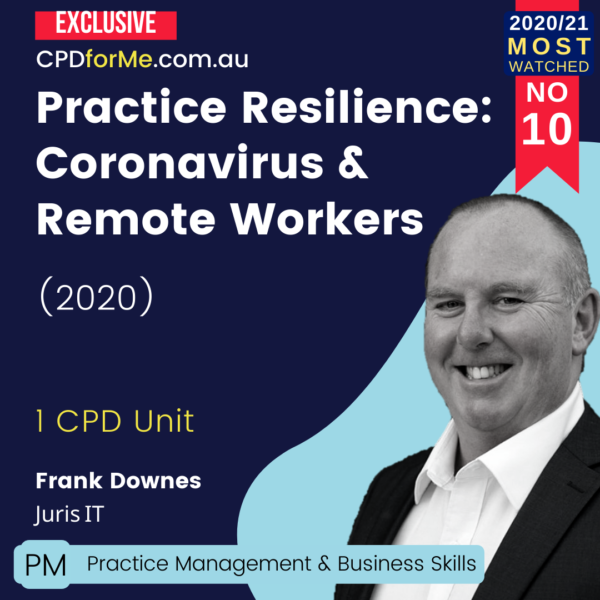 Practice Resilience - Coronavirus & Remote Workers (2020)