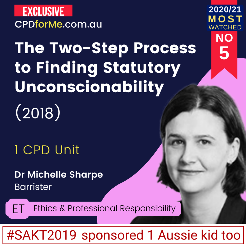 The Two-Step Process to Finding Statutory Unconscionability (2018)