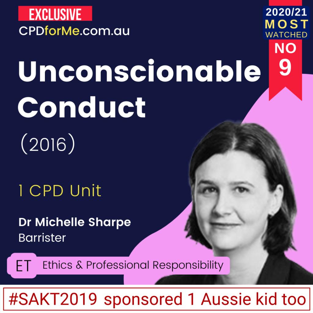 Unconscionable Conduct (2016)