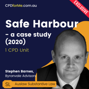 Safe Harbour – a case study (2020)