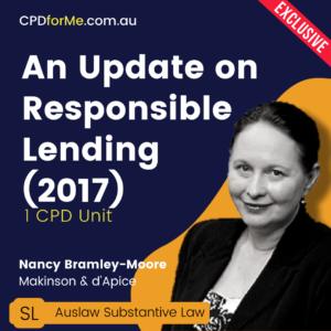 An Update on Responsible Lending