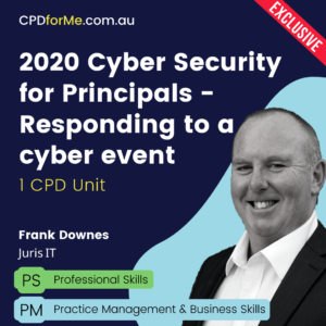 2020 Cyber Security for Principals Response