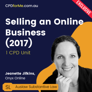 Selling an Online Business