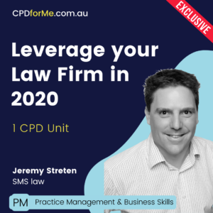 Leverage Your Law Firm in 2020
