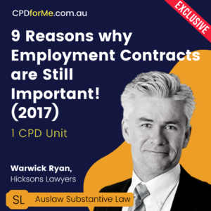 9 Reasons why Employment Contracts are Still Important