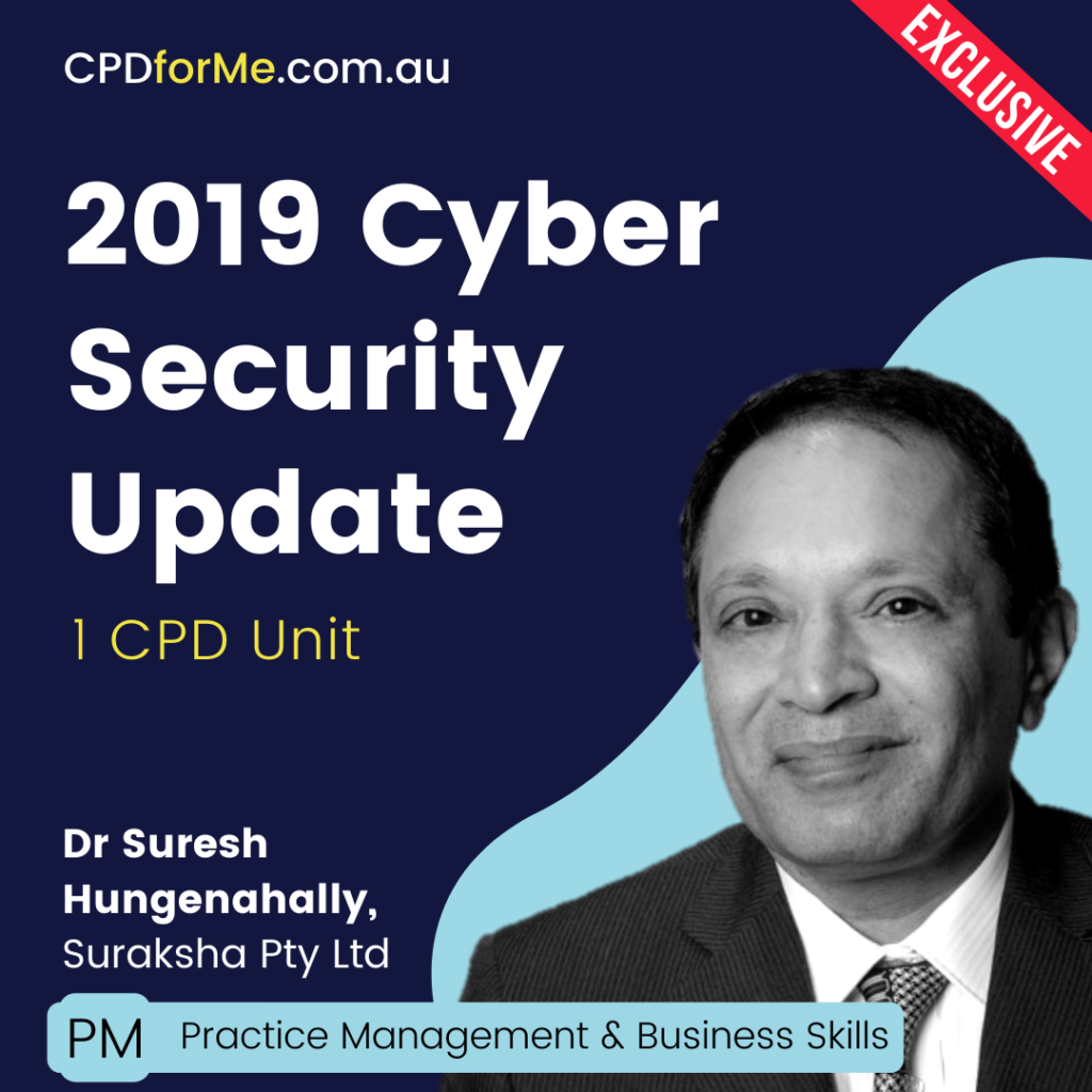 Cyber Security Update (2019) Online CPD