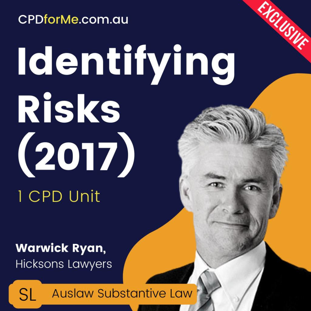 Identifying Risks (2017) Online CPD