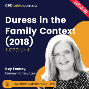 Duress in the Family Context
