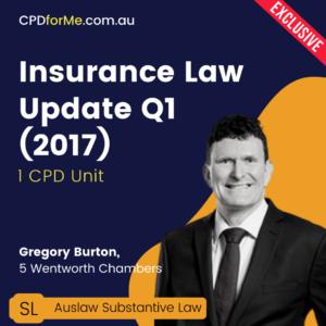 Insurance Law Update Q1 2017