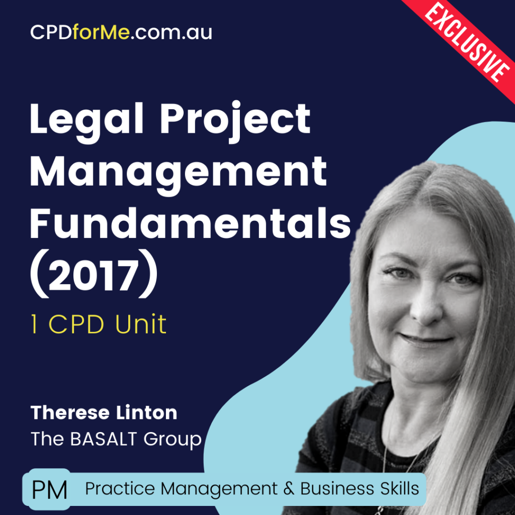Legal Project Management Fundamentals (2017) Online CPD