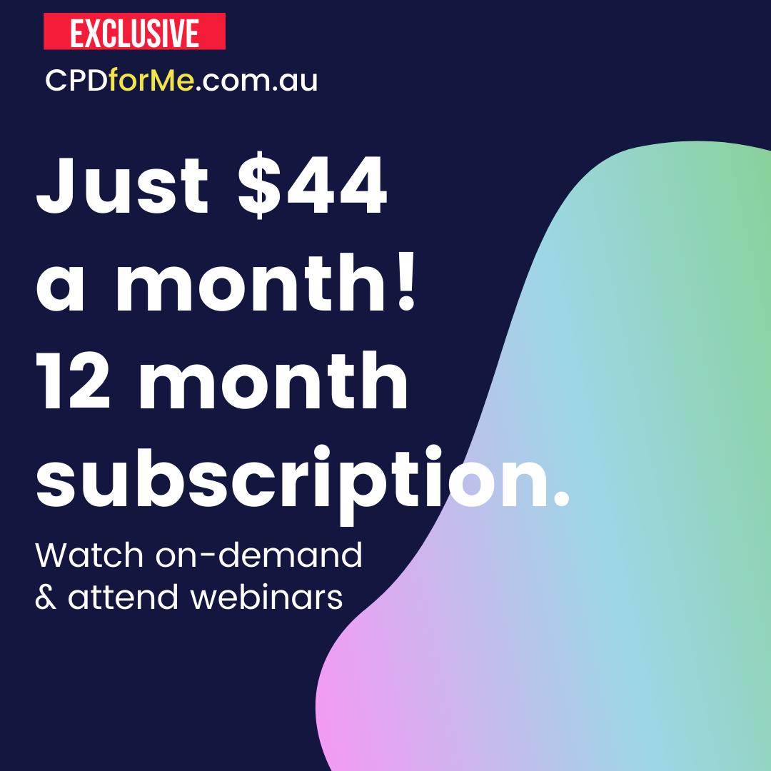 $44 a month 12 month subscription