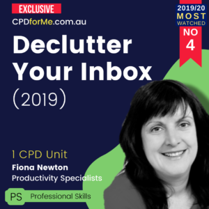 Declutter Your Inbox (2019) 1 CPD Unit