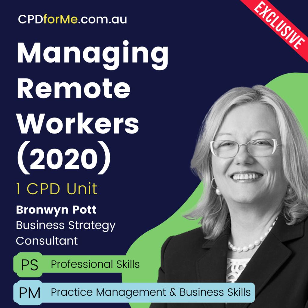 Managing Remote Workers Online CPD