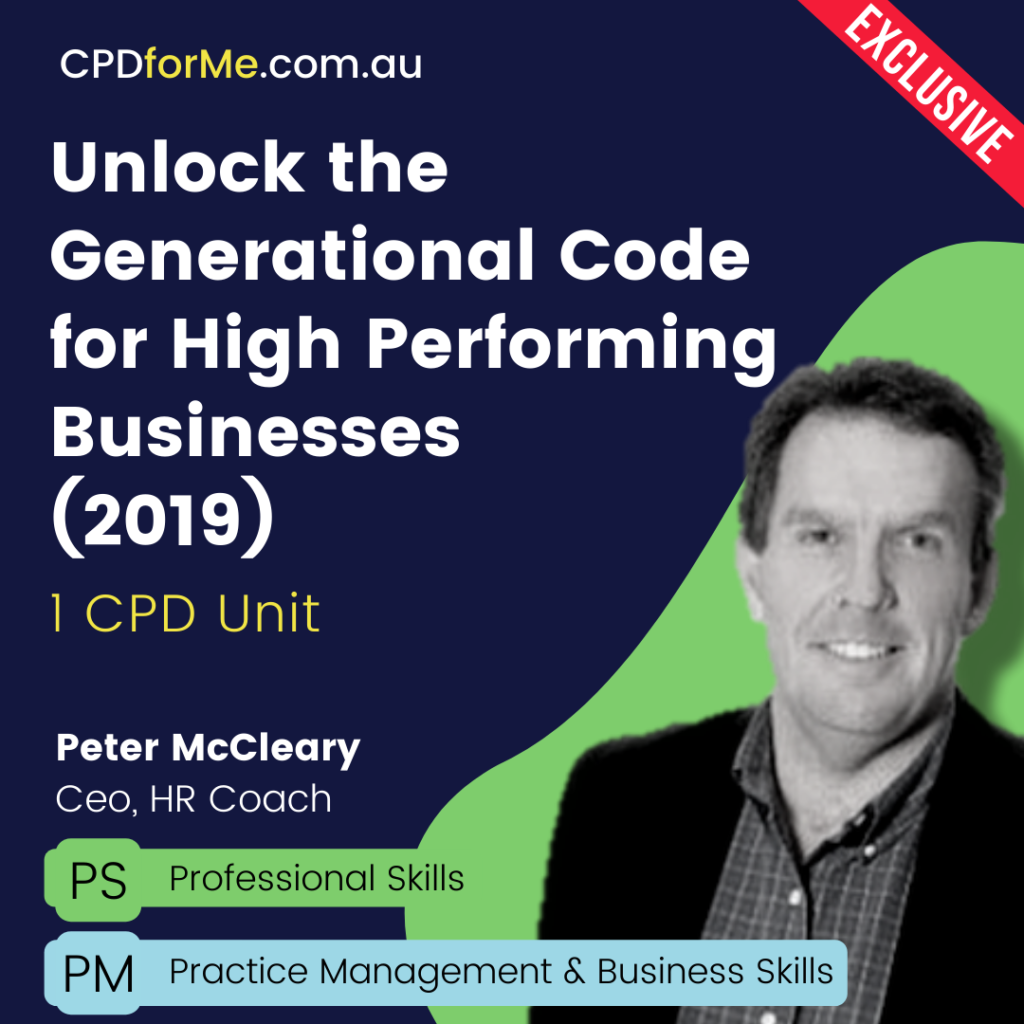 Unlock the Generational Code for High Performing Businesses