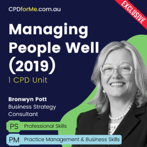 Managing People Well