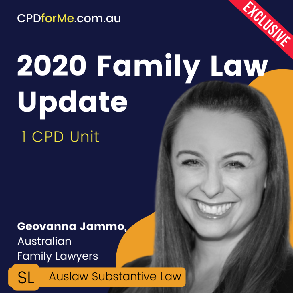 Family Law Update (2020) Online CPD