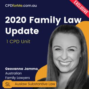 2020 Family Law Update – 1 CPD Unit   CPDforMe.com.au