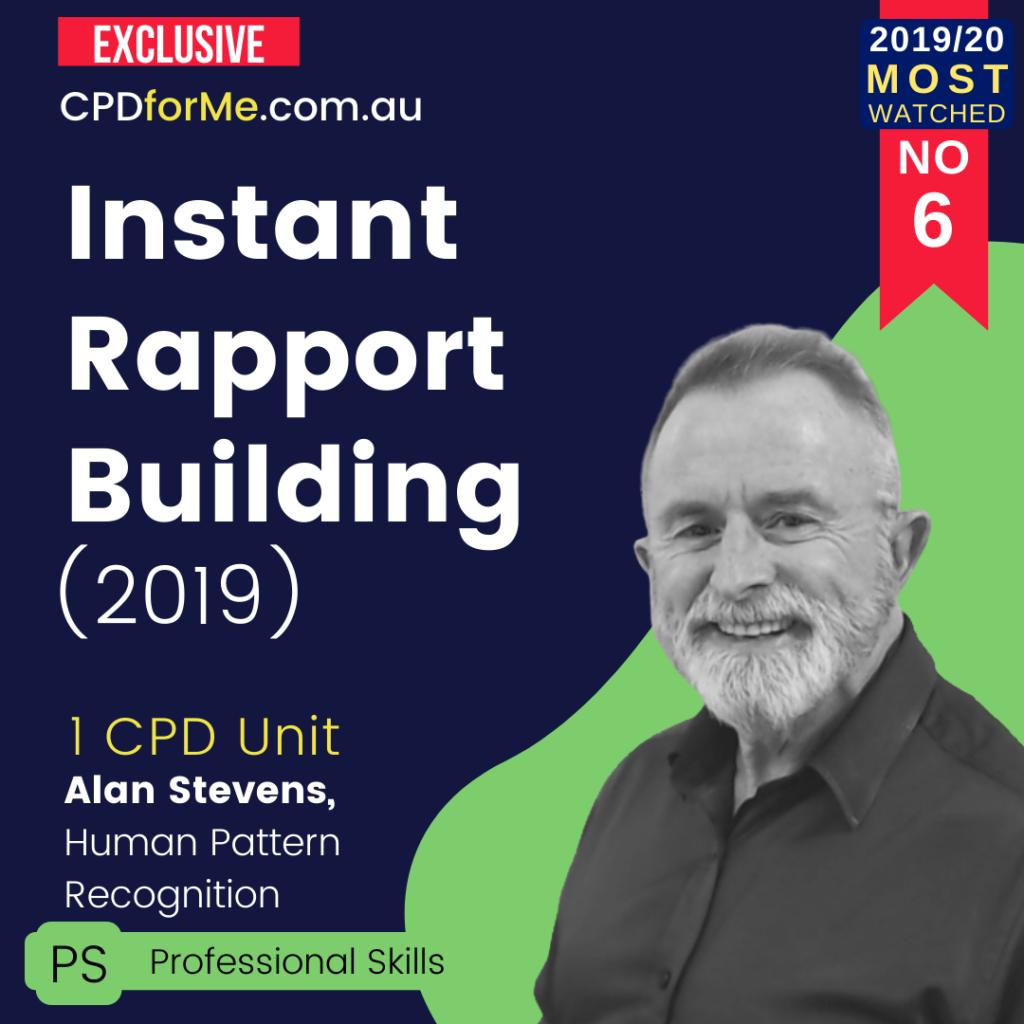Instant Rapport Building (2019) 1 CPD Unit