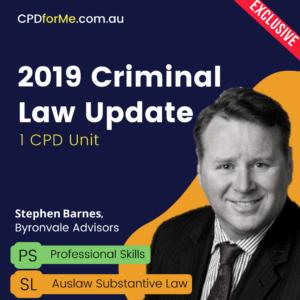 2019 Criminal Law Update - Effective Plea Making