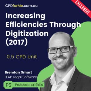Increasing Efficiencies Through Digitization