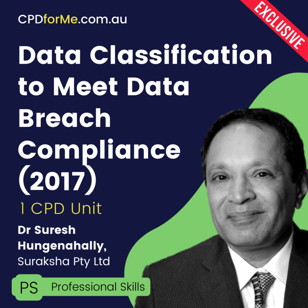 Data Classification to Meet Data Breach Compliance
