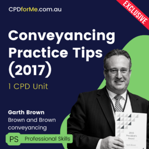 Conveyancing Practice Tips
