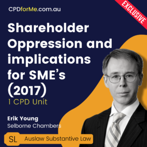 Shareholder Oppression and implications for SME's