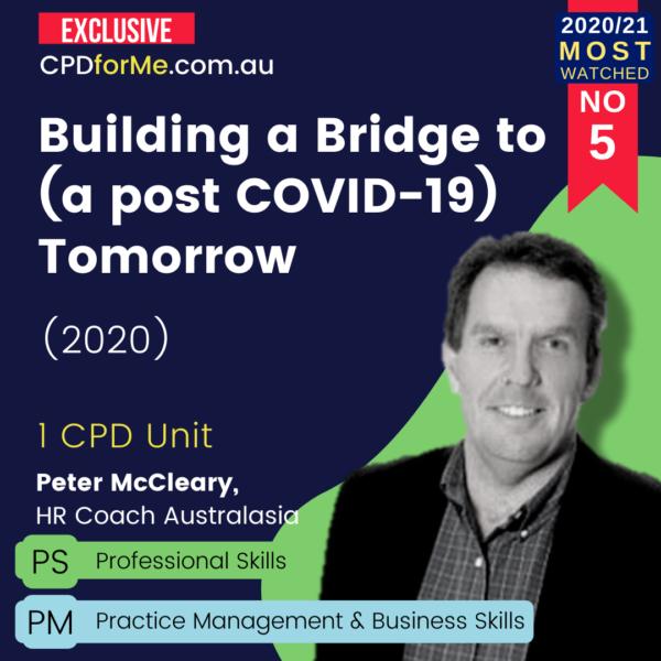 Building a Bridge to (a post COVID-19) Tomorrow (2020)