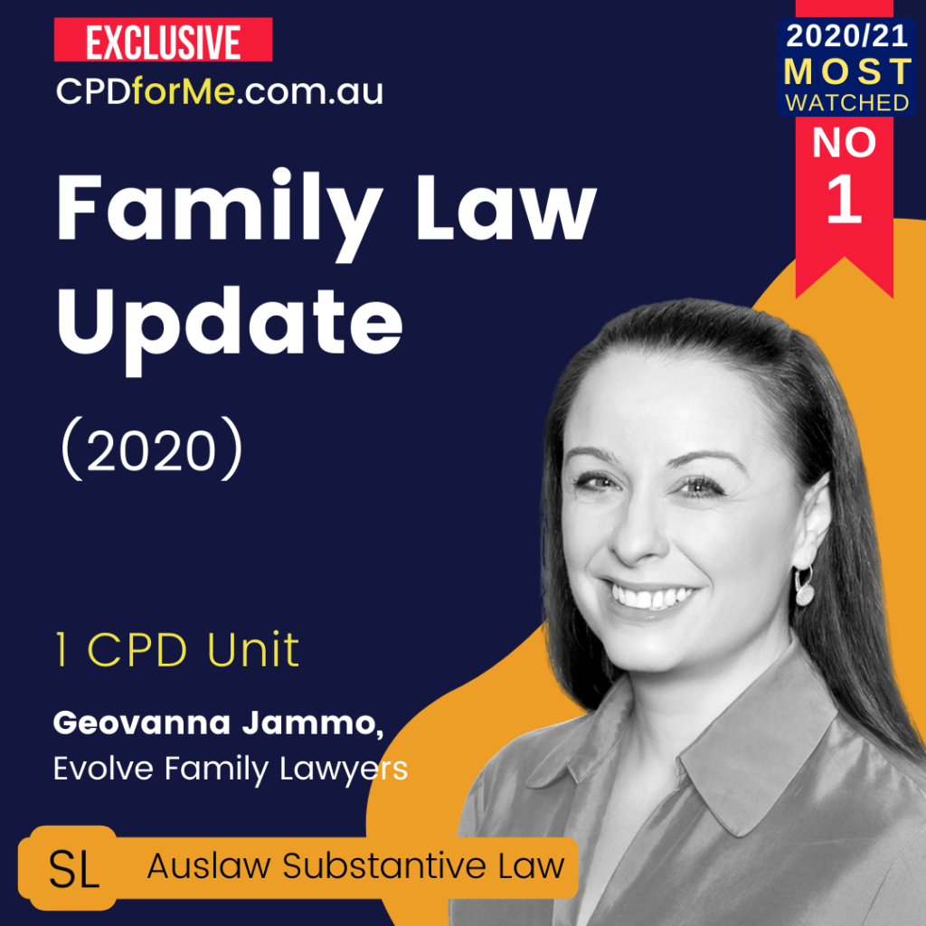 Family Law Update (2020)