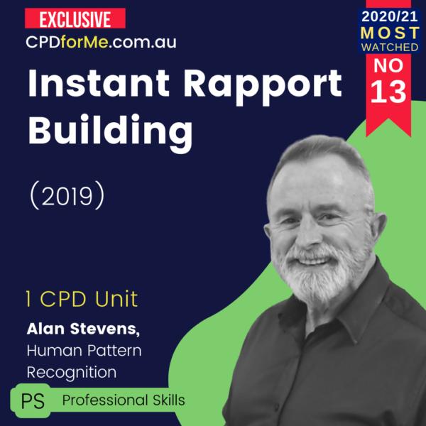 Instant Rapport Building (2019)