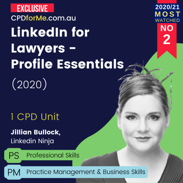 Linkedin for Lawyers - Profile Essentials (2020)