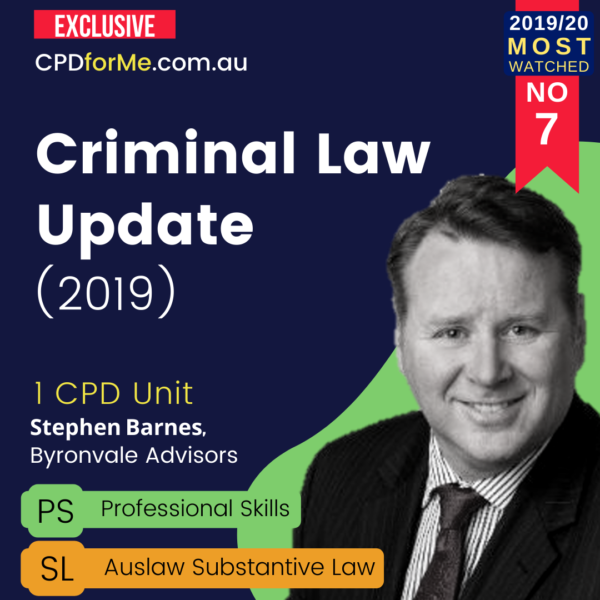 Criminal Law Update: Effective Plea Making (2019) 1 CPD Unit