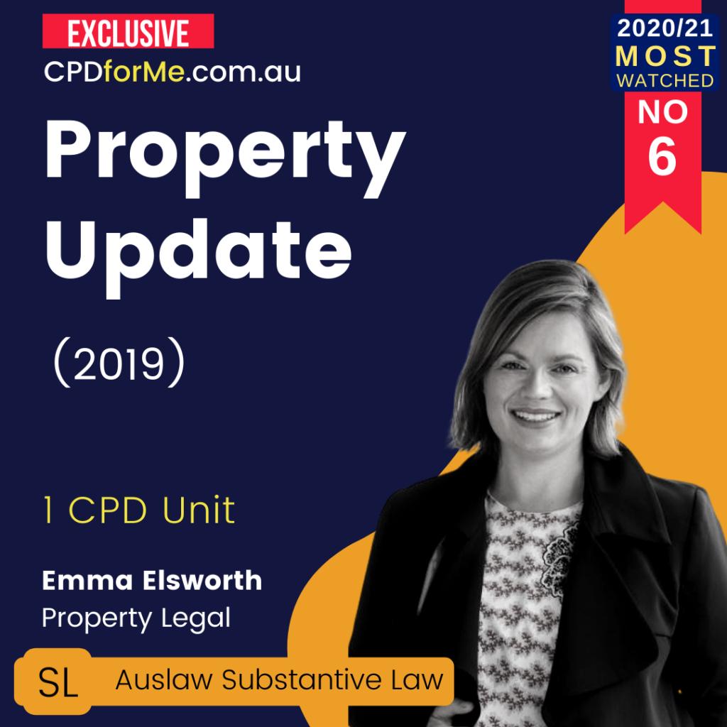Property Update (2019) 1 CPD Unit