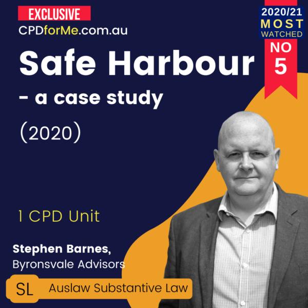 Safe Harbour - a case study (2020)