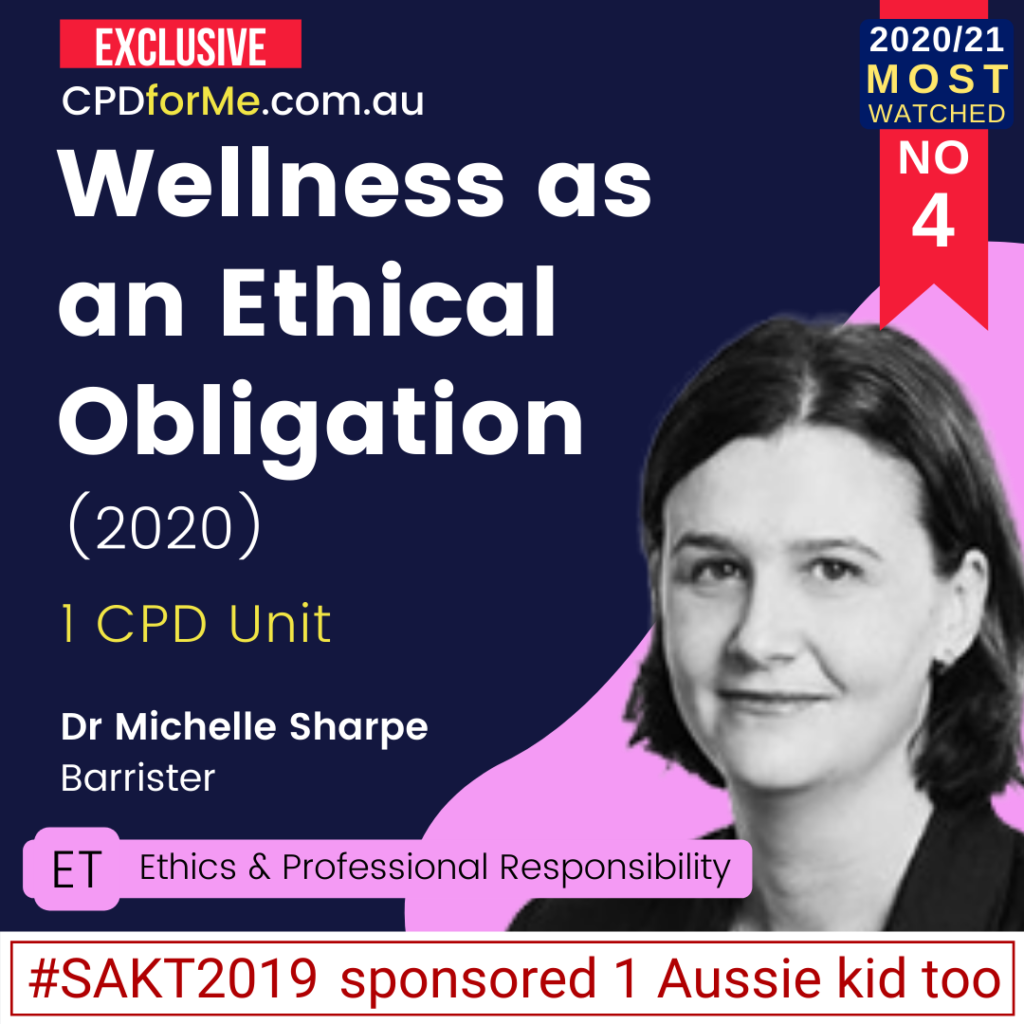 Wellness as an Ethical Obligation (2020)