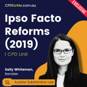 Ipso Facto Reforms