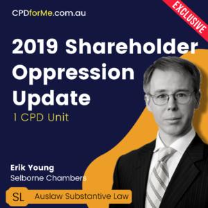 2019 Shareholder Oppression Update