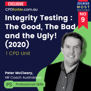 Integrity Testing : The Good, The Bad and the Ugly! (2020)