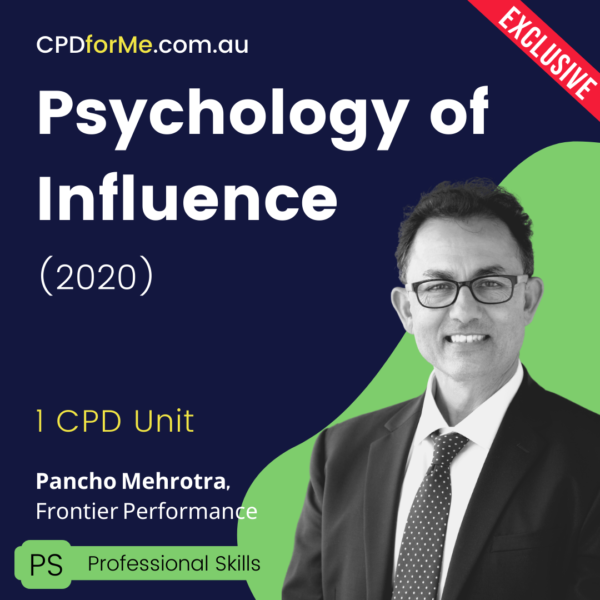 Psychology of Influence (2020) Online CPD