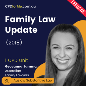 Family Law Update (2018) Online CPD