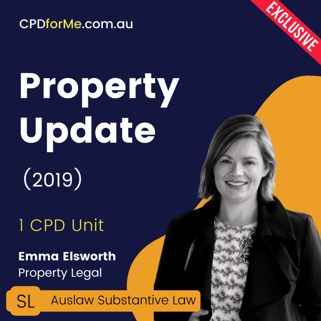 Property Update (2019) Online CPD