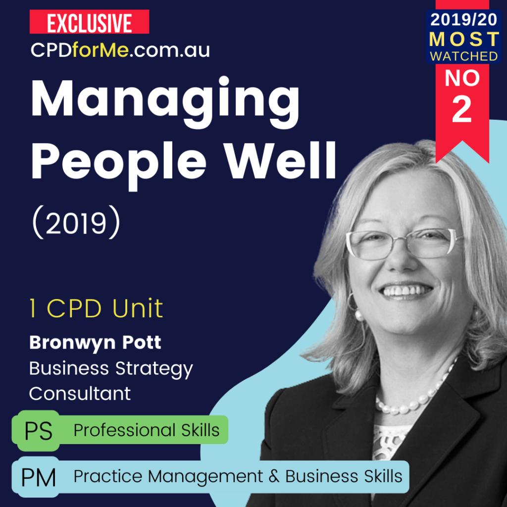 Managing People Well (2019) Online CPD