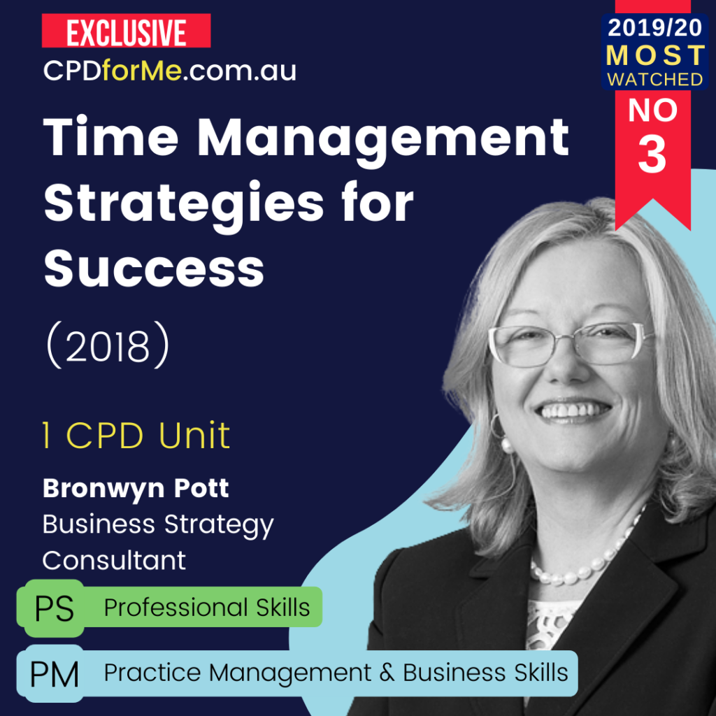Time Management Strategies for Success (2018) Online CPD