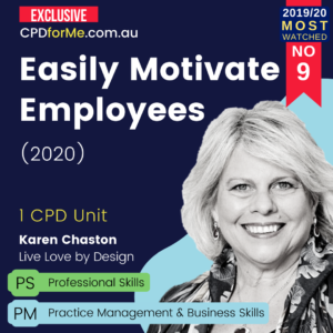 Easily Motivate Employees (2020) Online CPD