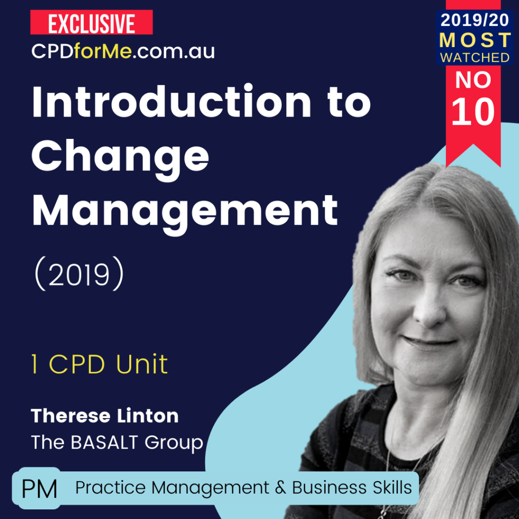 Introduction to Change Management (2019) Online CPD