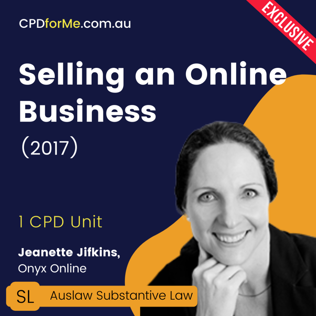 Selling an Online Business (2017) Online CPD