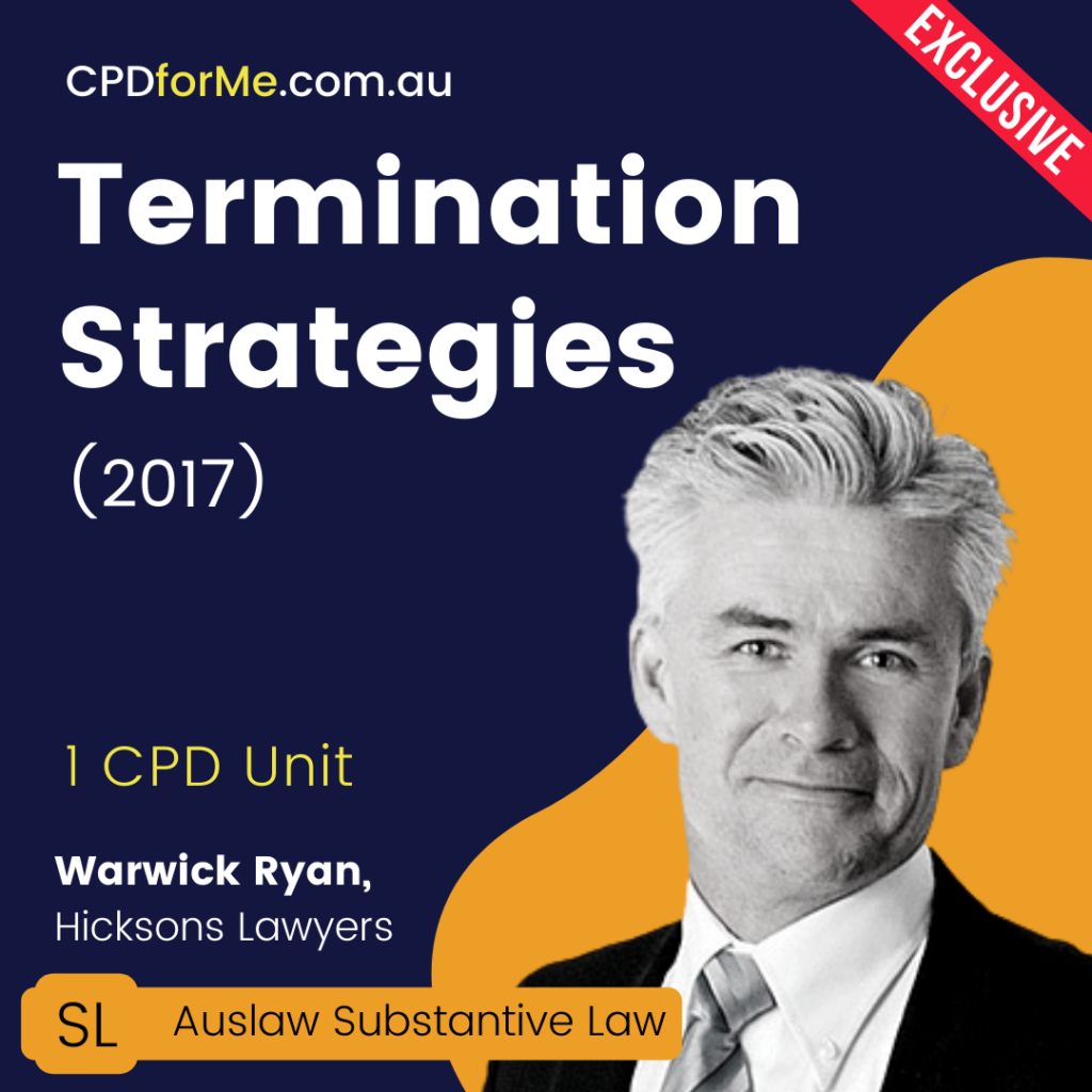 Termination Strategies (2017) Online CPD