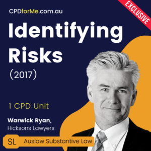 Identifying Risks (2017) Online CPD